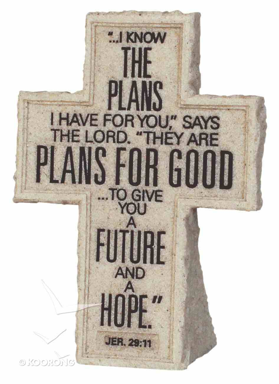 Cross Tabletop: Cornerstone: I Know the Plans (Jeremiah 29:11) Homeware
