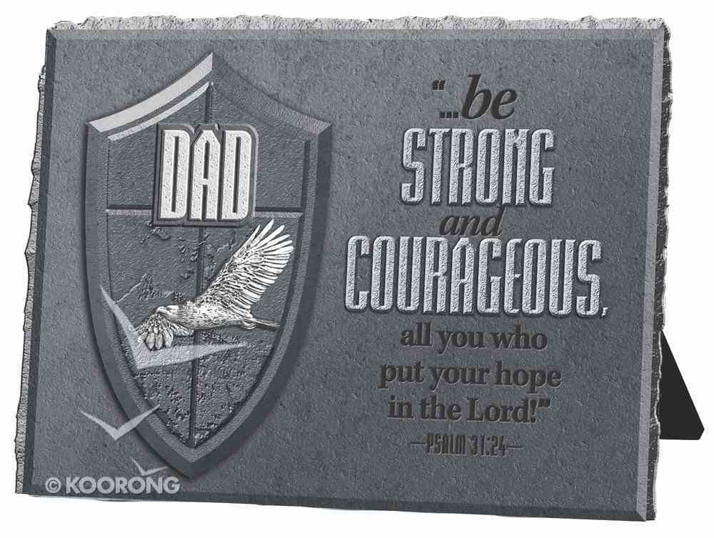 He is Your Shield Cast Stone Plaque: Dad Plaque