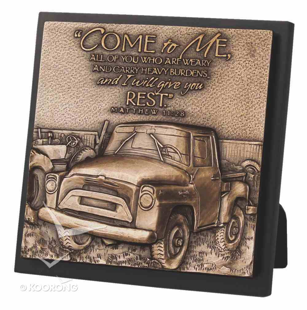 Moments of Faith Sculpture Plaque: Come to Me, Matthew 11:28, Truck Homeware