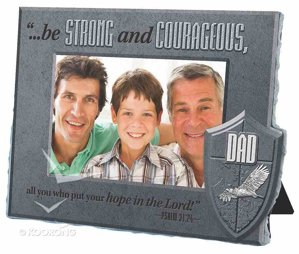 He is Your Shield Cast Stone Photo Frame: Dad Homeware