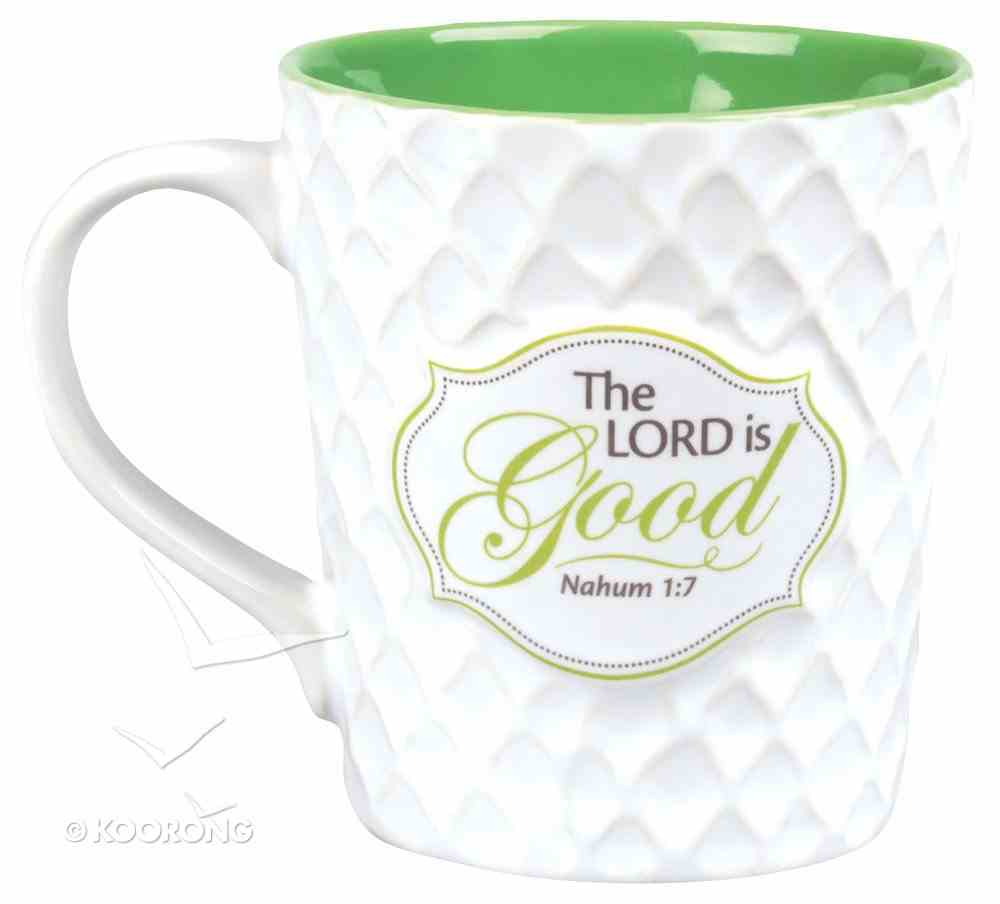 Pattern of Praise Ceramic Mug: The Lord is Good (White/green) Homeware