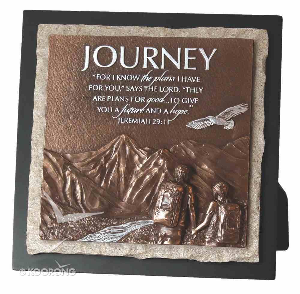 Moments of Faith Stone Sculpture Plaque: Journey, Jeremiah 29:11 Homeware