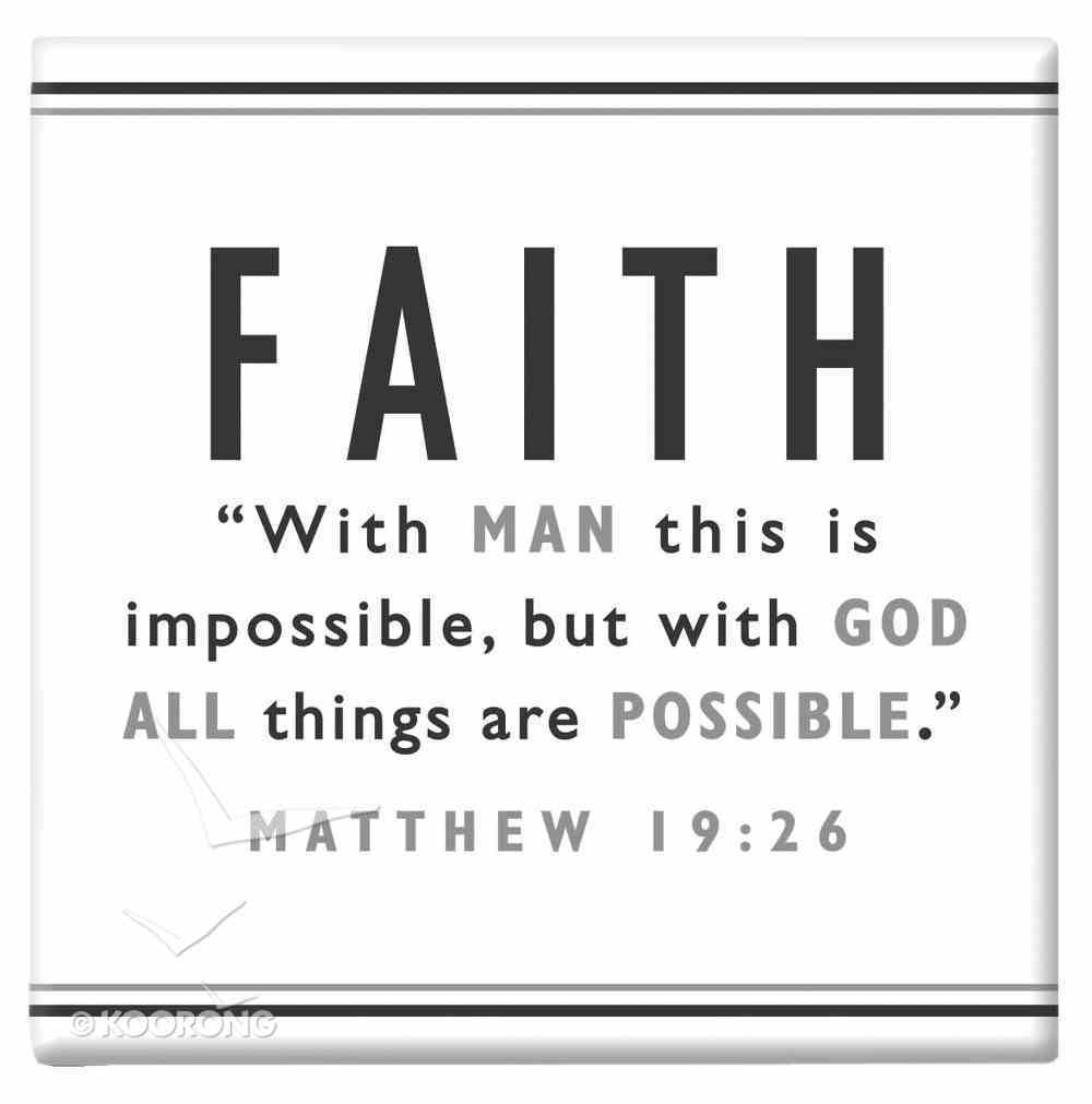 Black and White Series Magnet: Faith Novelty