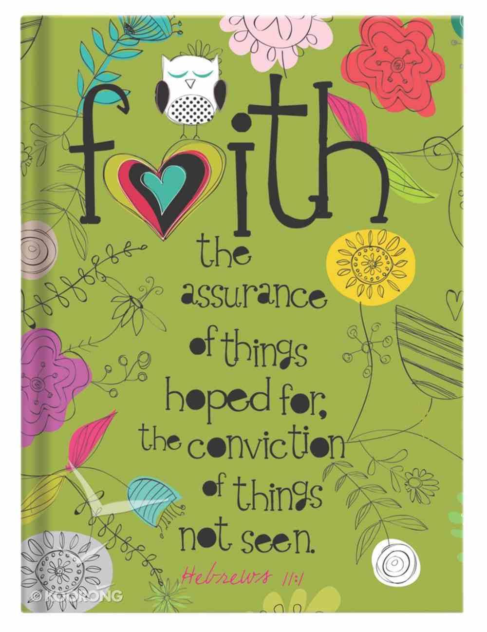 Scripture Journal: Faith Hebrews 11:1, Owl, Green Hardback