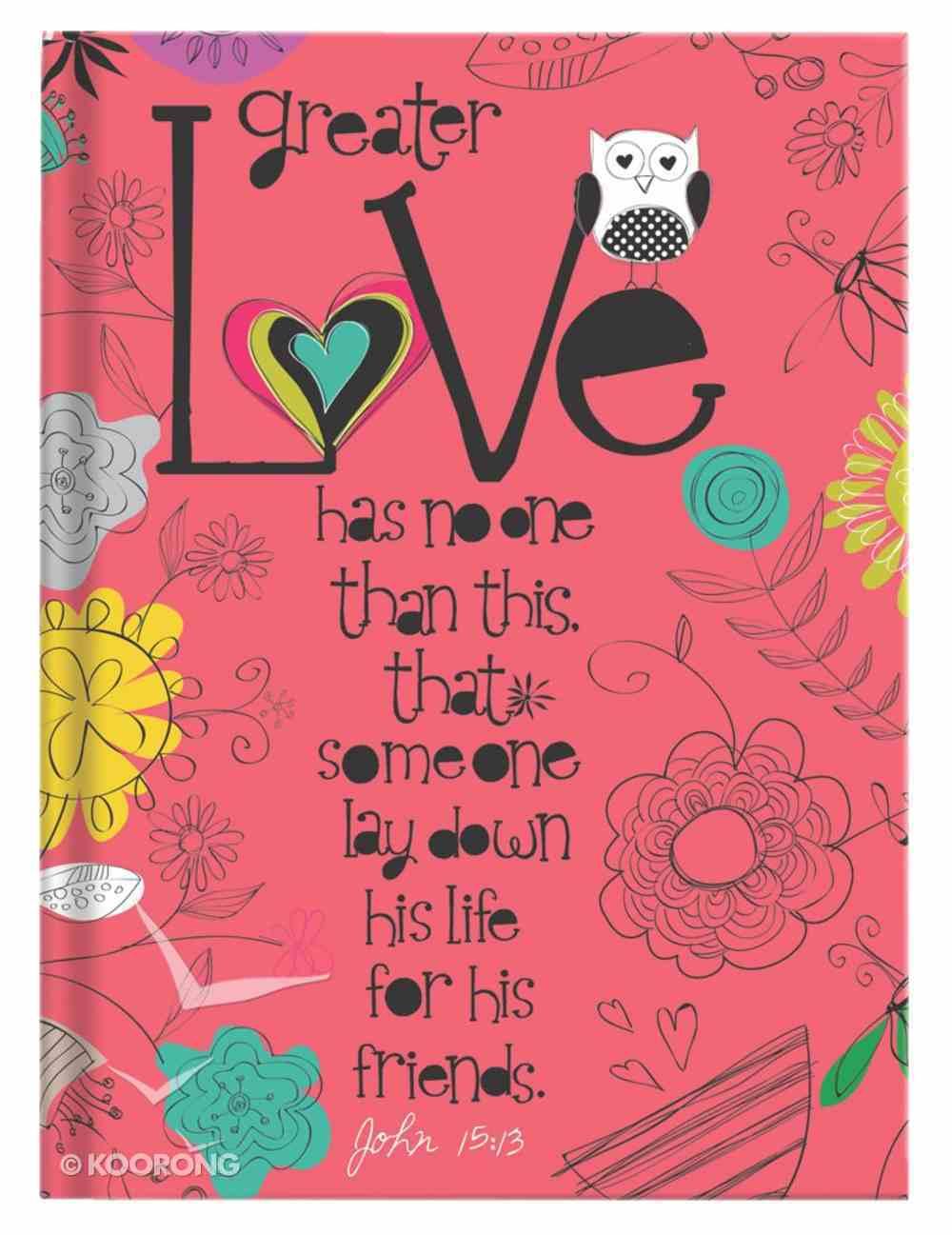 Scripture Journal: Love John 15:13, Owl, Dark Pink Hardback