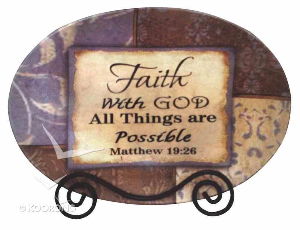 Oval Plate With Rack: Faith Homeware