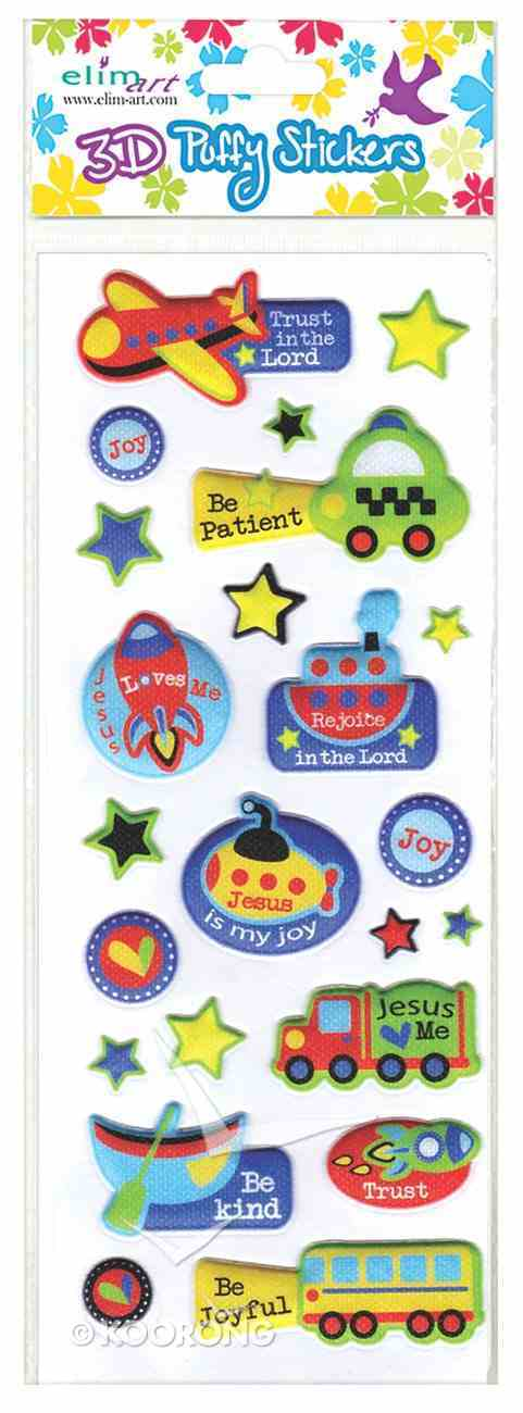 Puffy Stickers: Vehicles (1 Sheet Per Pack) Novelty