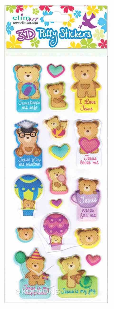 Puffy Stickers: Teddy (1 Sheet Per Pack) Novelty