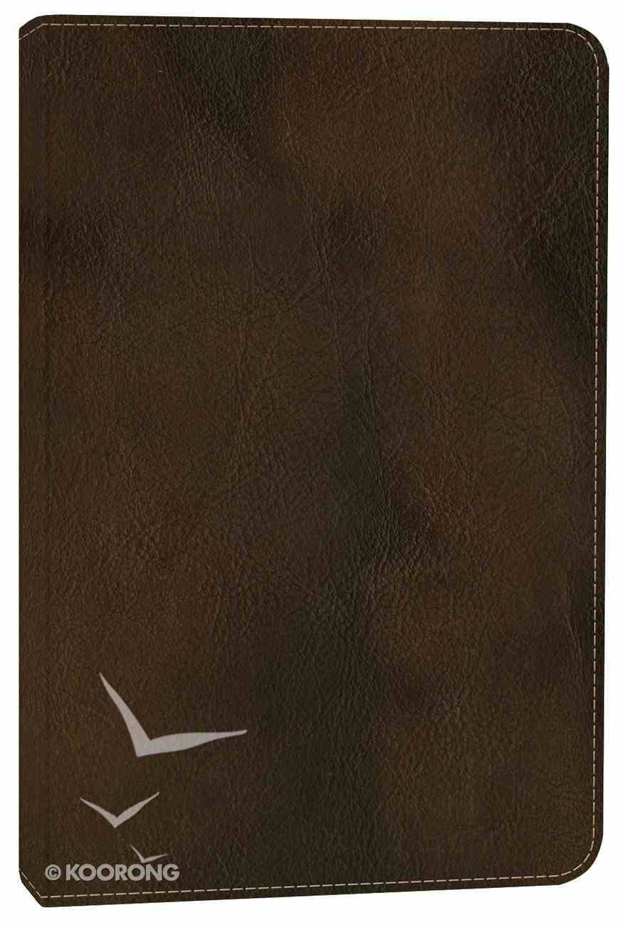 NLT Compact Bible Rustic Brown (Black Letter Edition) Imitation Leather