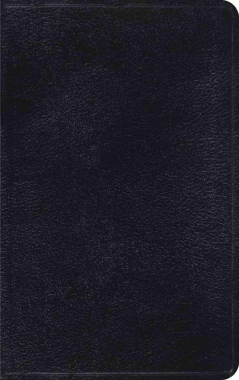 ESV Thinline Black (Red Letter Edition) Genuine Leather