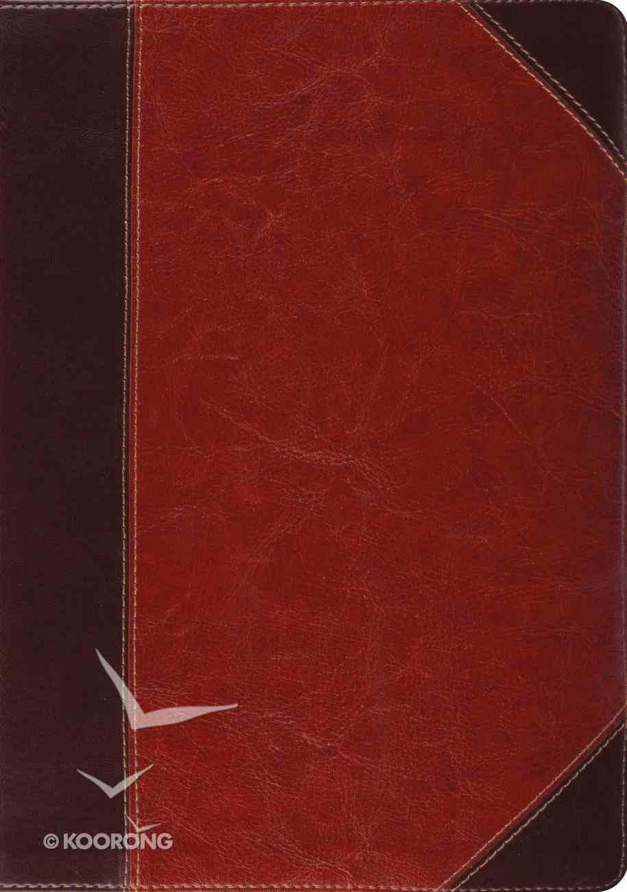 ESV Study Bible Trutone Brown/Cordovan Portfolio Design Indexed (Black Letter Edition) Imitation Leather