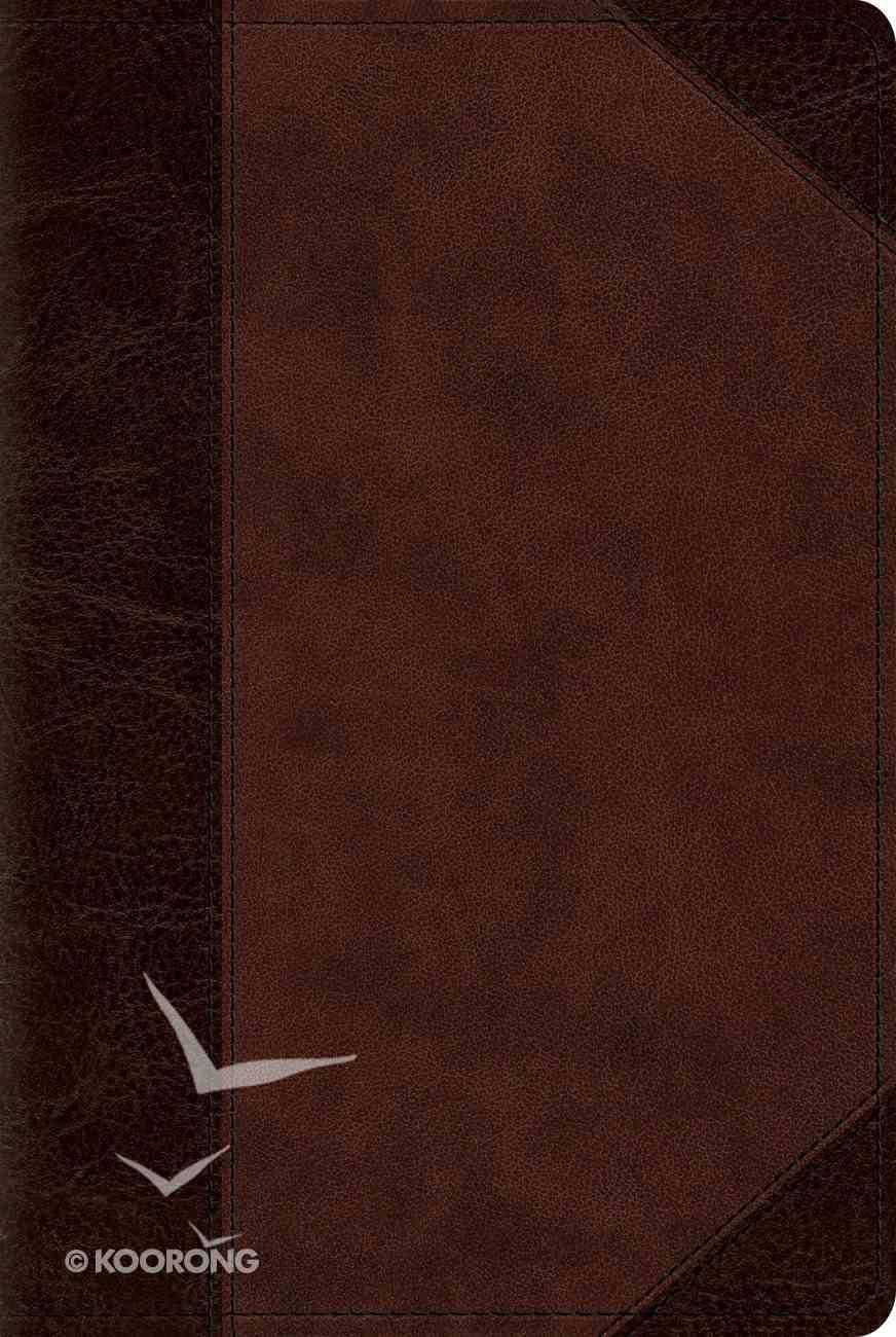 ESV Reader's Bible Trutone Brown/Walnut Portfolio Design Imitation Leather