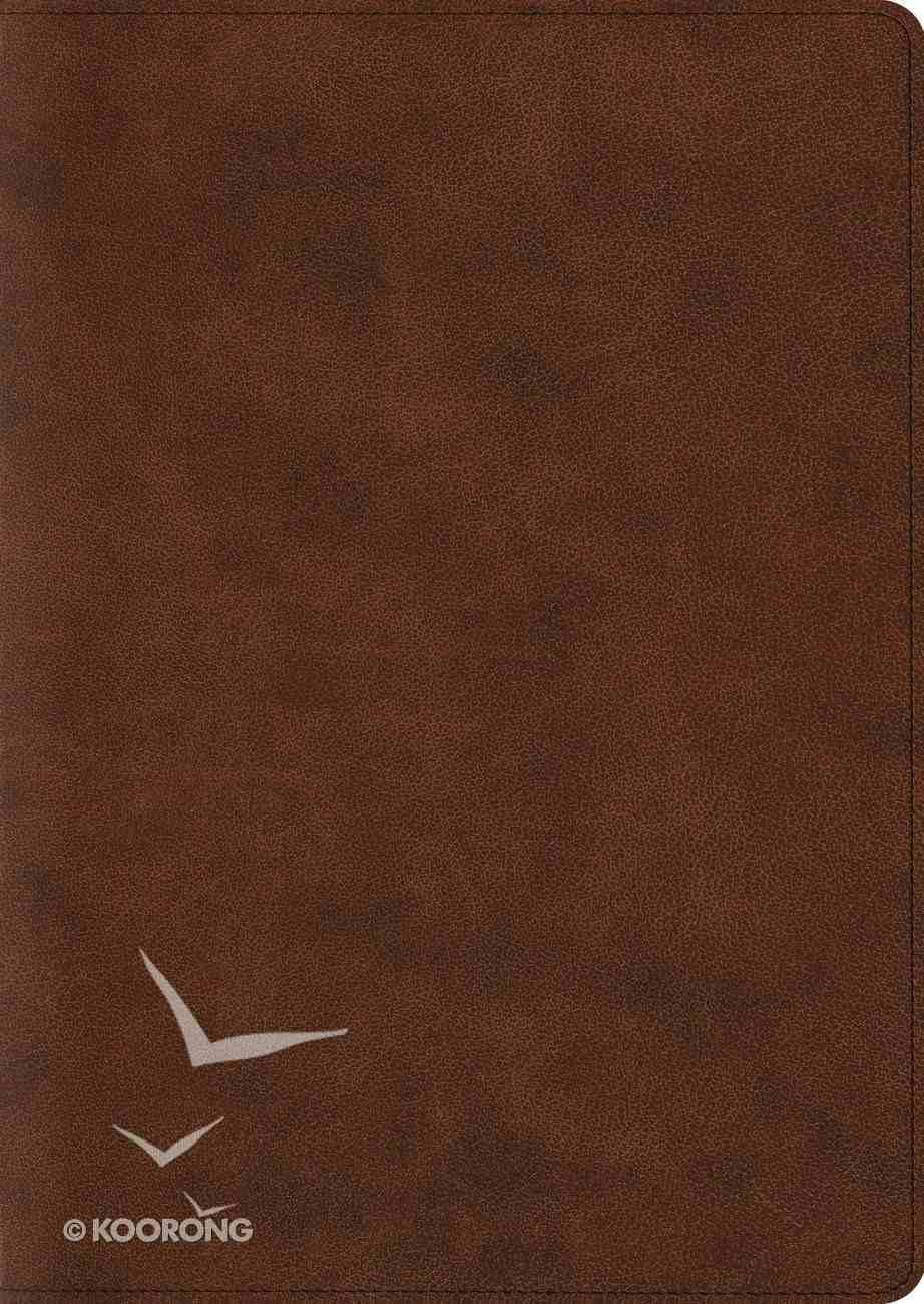 ESV Study Bible Large Print Trutone Brown (Black Letter Edition) Imitation Leather