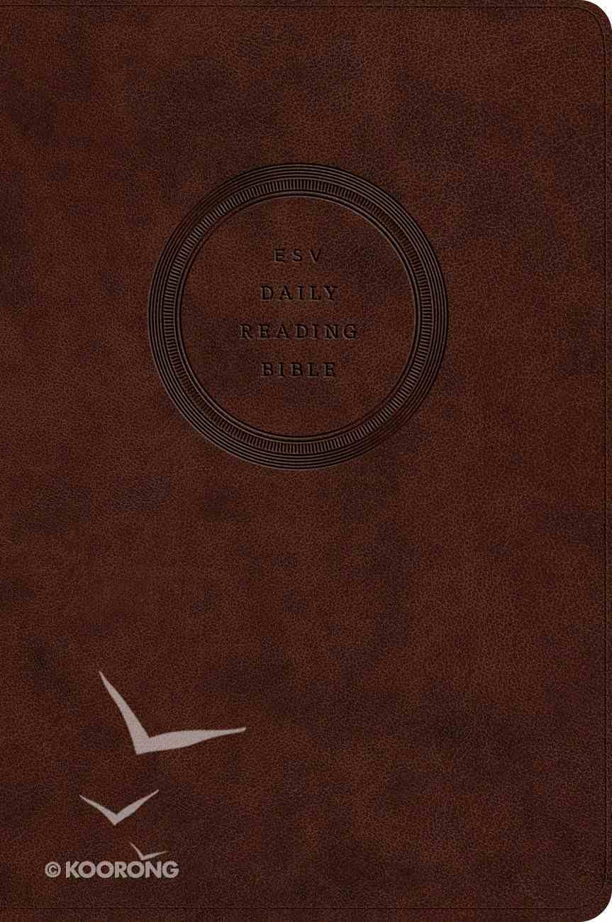 ESV Daily Reading Bible Trutone Brown Imitation Leather