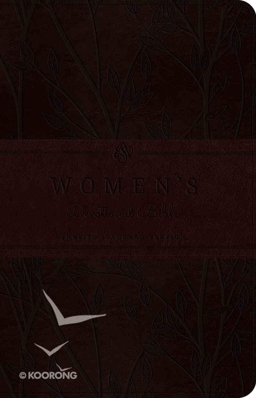 ESV Women's Devotional Bible Trutone Burgundy Birch Design (Black Letter Edition) Imitation Leather