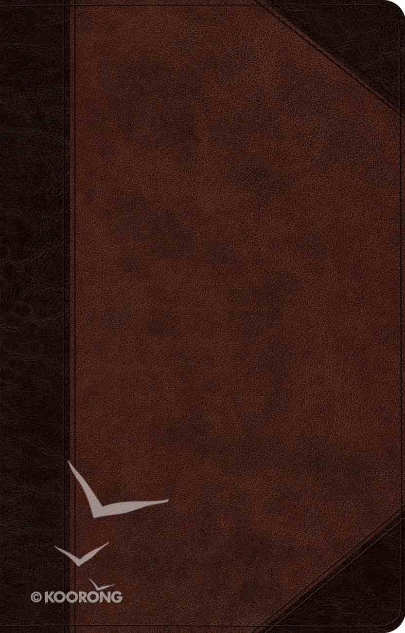 ESV Large Print Thinline Reference Bible Trutone Brown/Walnut Portfolio Design (Black Letter Edition) Imitation Leather