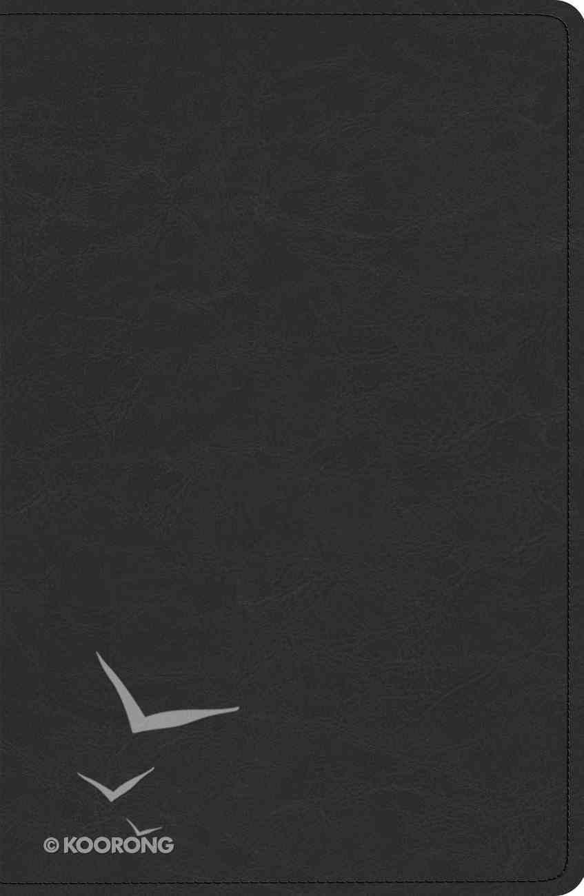 ESV Heirloom Legacy Bible Goatskin Black (Black Letter Edition) Genuine Leather