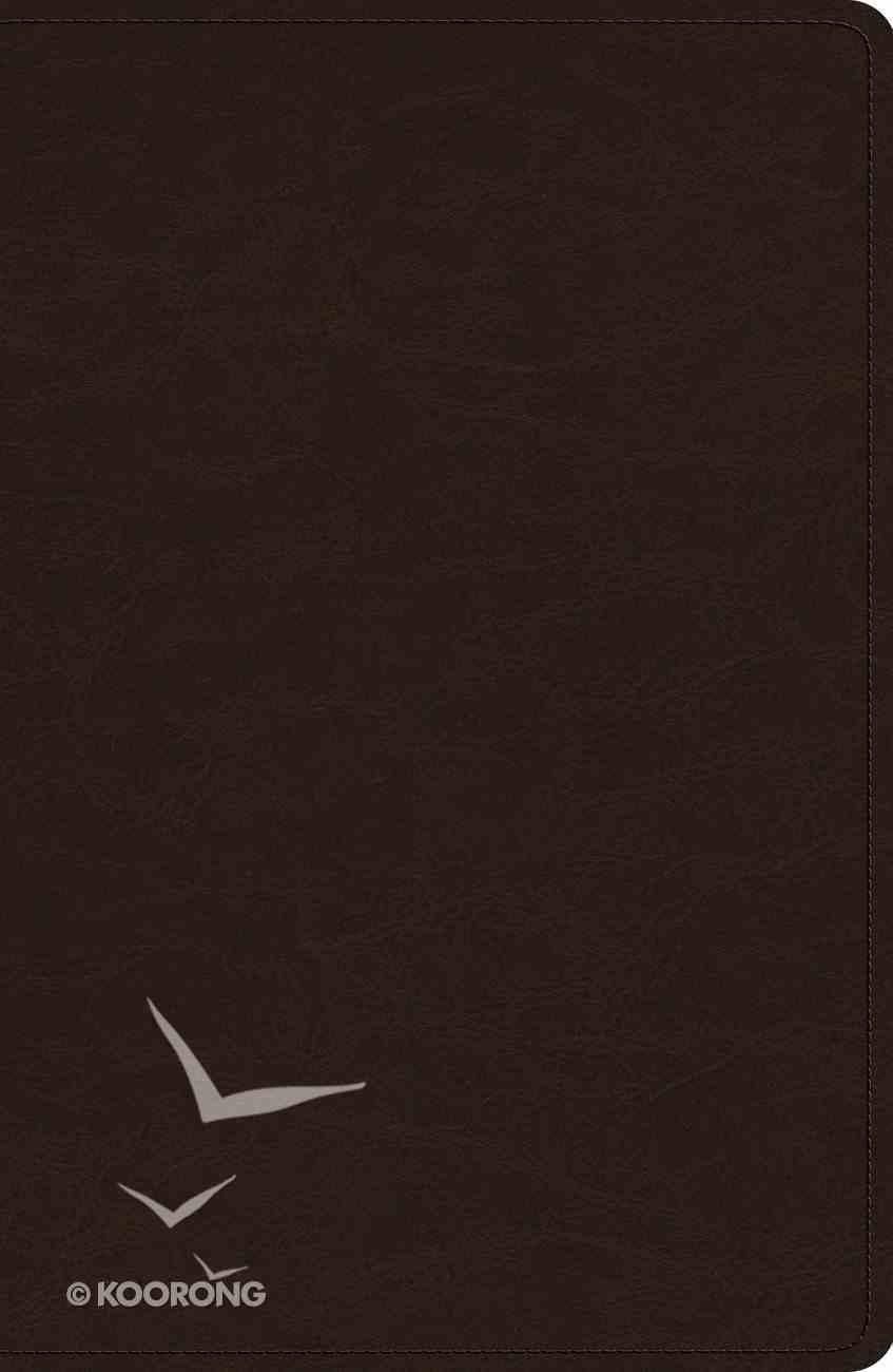 ESV Heirloom Legacy Bible Goatskin Deep Brown (Black Letter Edition) Genuine Leather