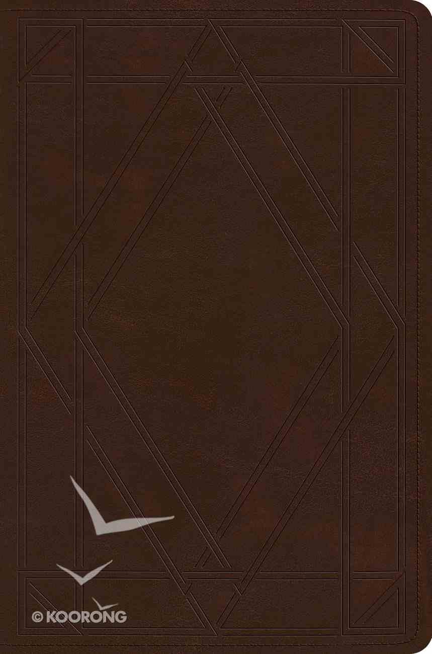 ESV Single Column Legacy Bible Trutone Chestnut Wood Panel Design Imitation Leather