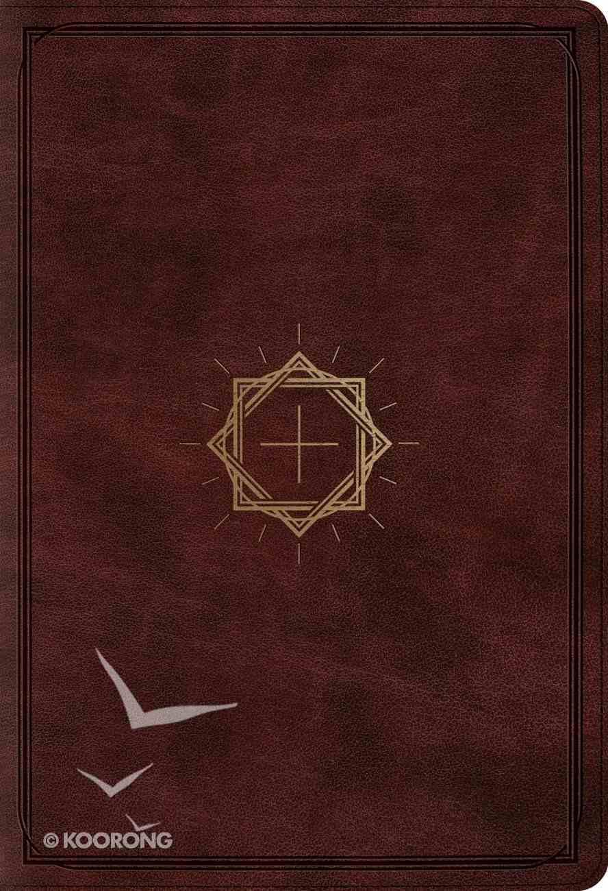 ESV Student Study Bible Mahogany Crown and Cross Design Imitation Leather