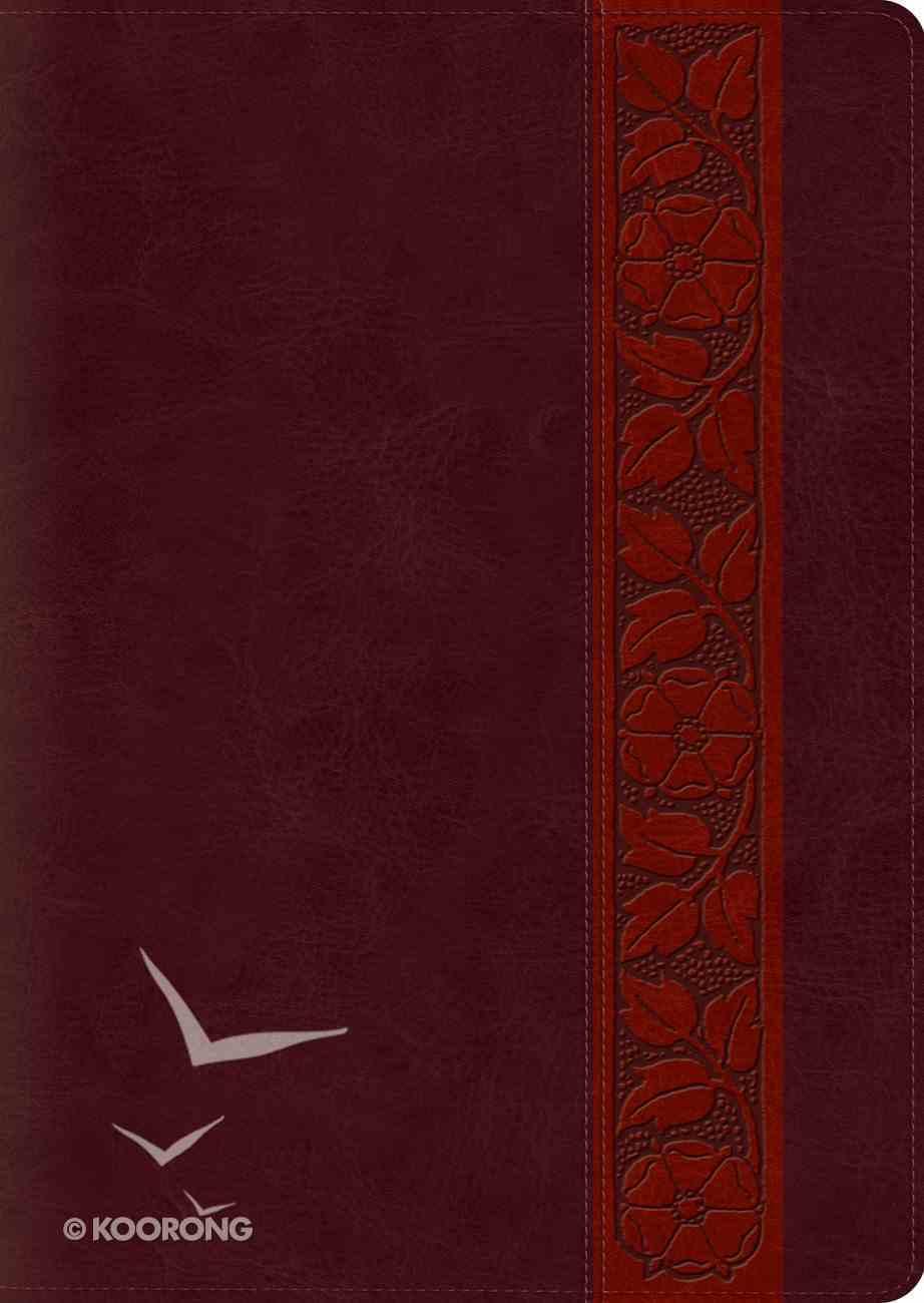 ESV Study Bible Large Print Mahogany Trellis Design (Black Letter Edition) Imitation Leather
