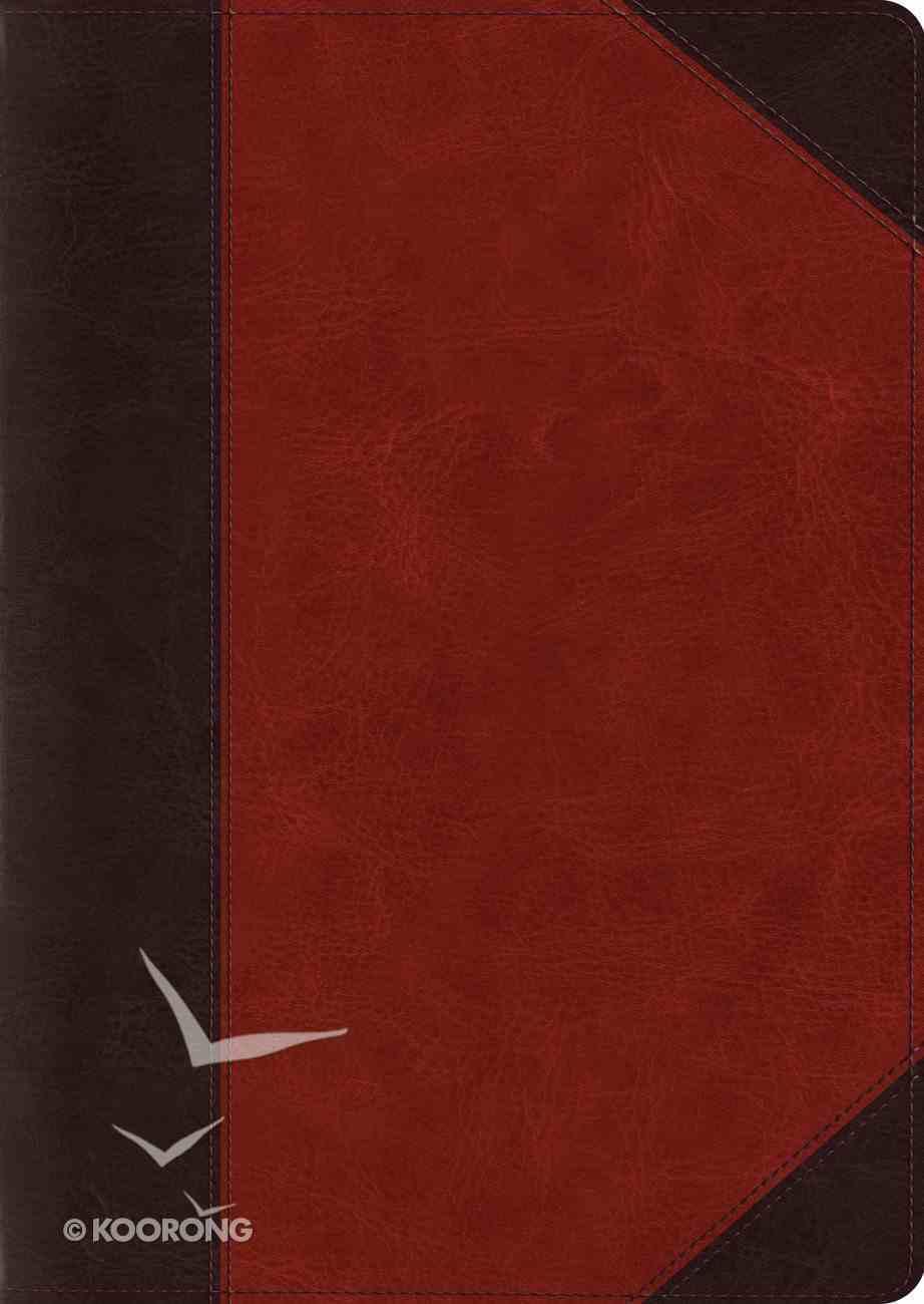 ESV Study Bible, Large Print (Trutone, Brown/cordovan, Portfolio Design) Imitation Leather