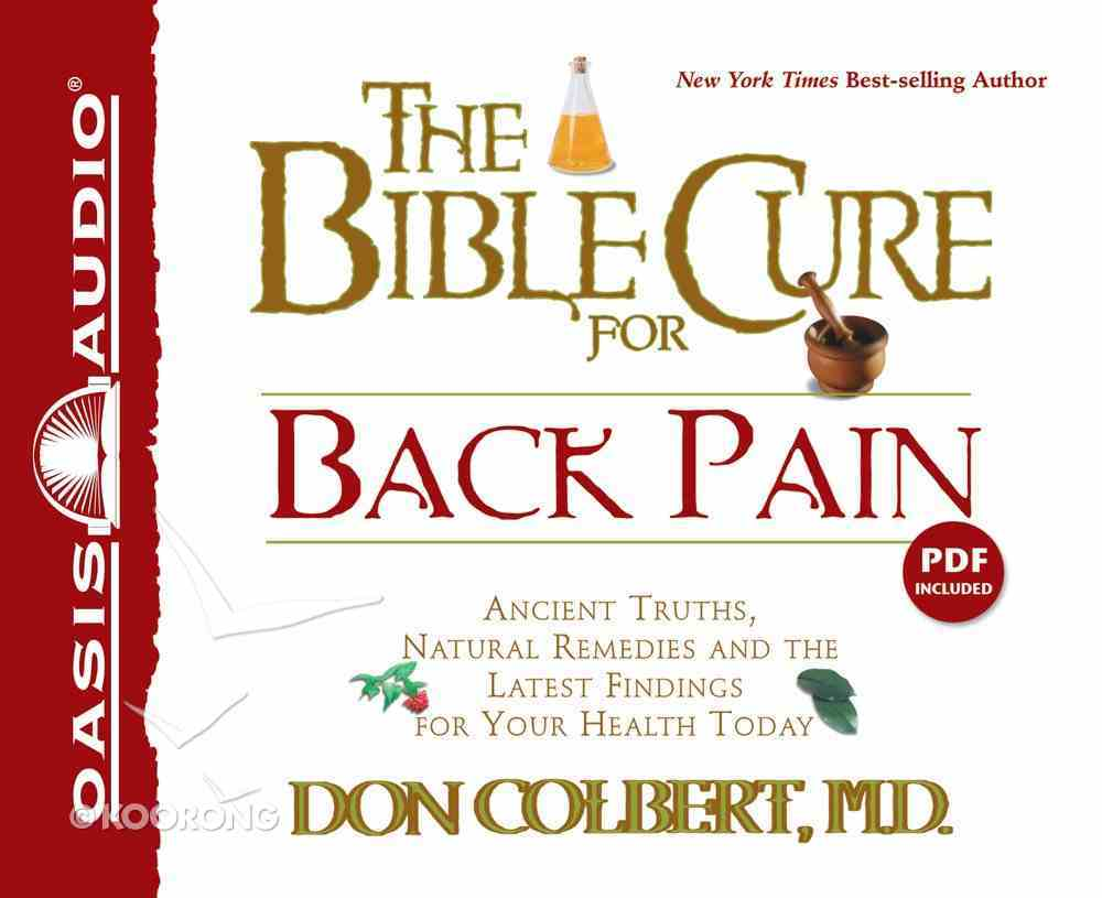 The Bible Cure For Back Pain (Bible Cure Series) CD