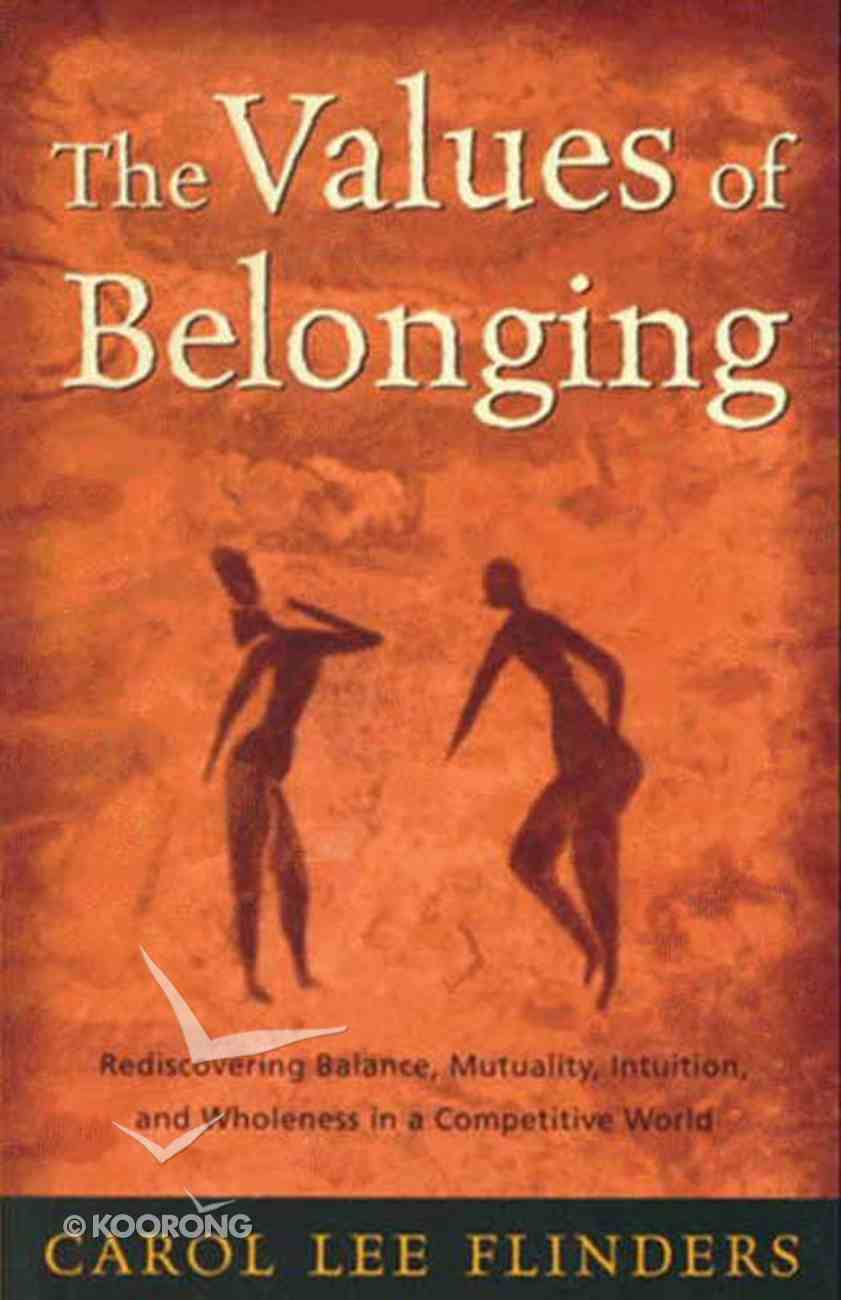 The Values of Belonging Hardback