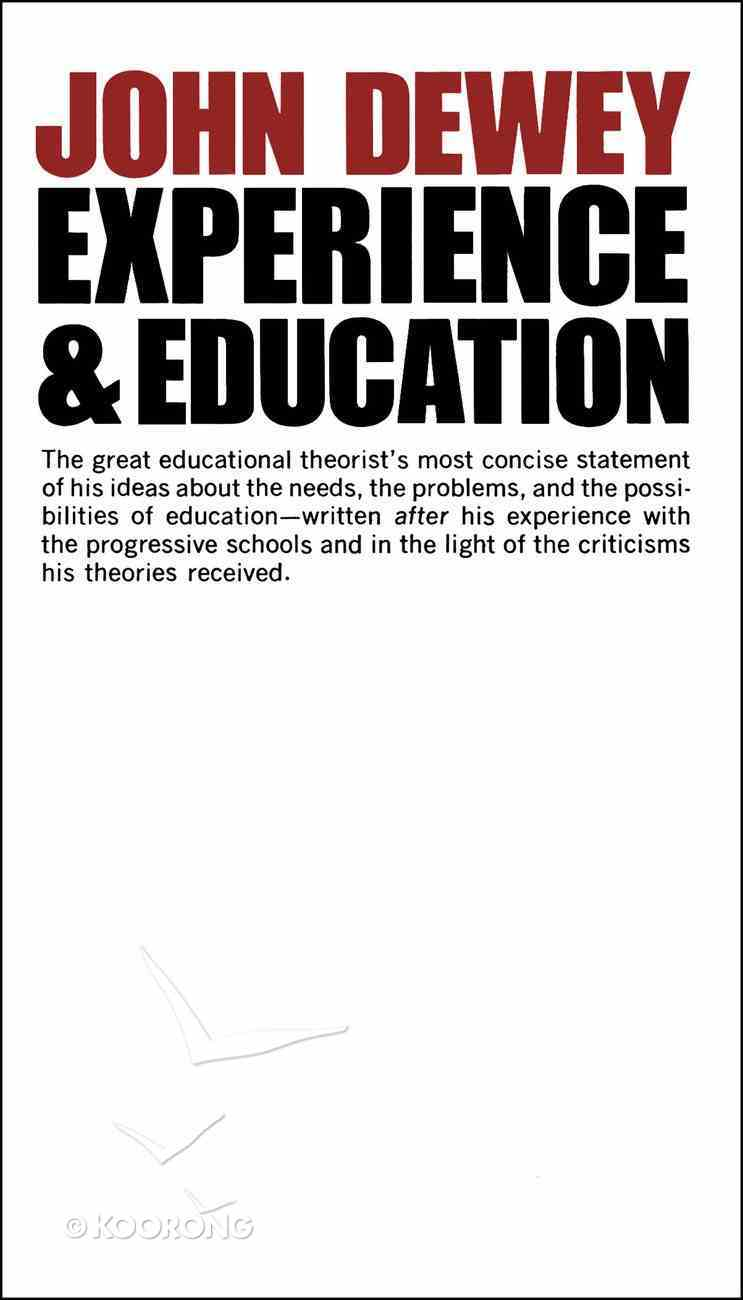 Experience and Education Paperback