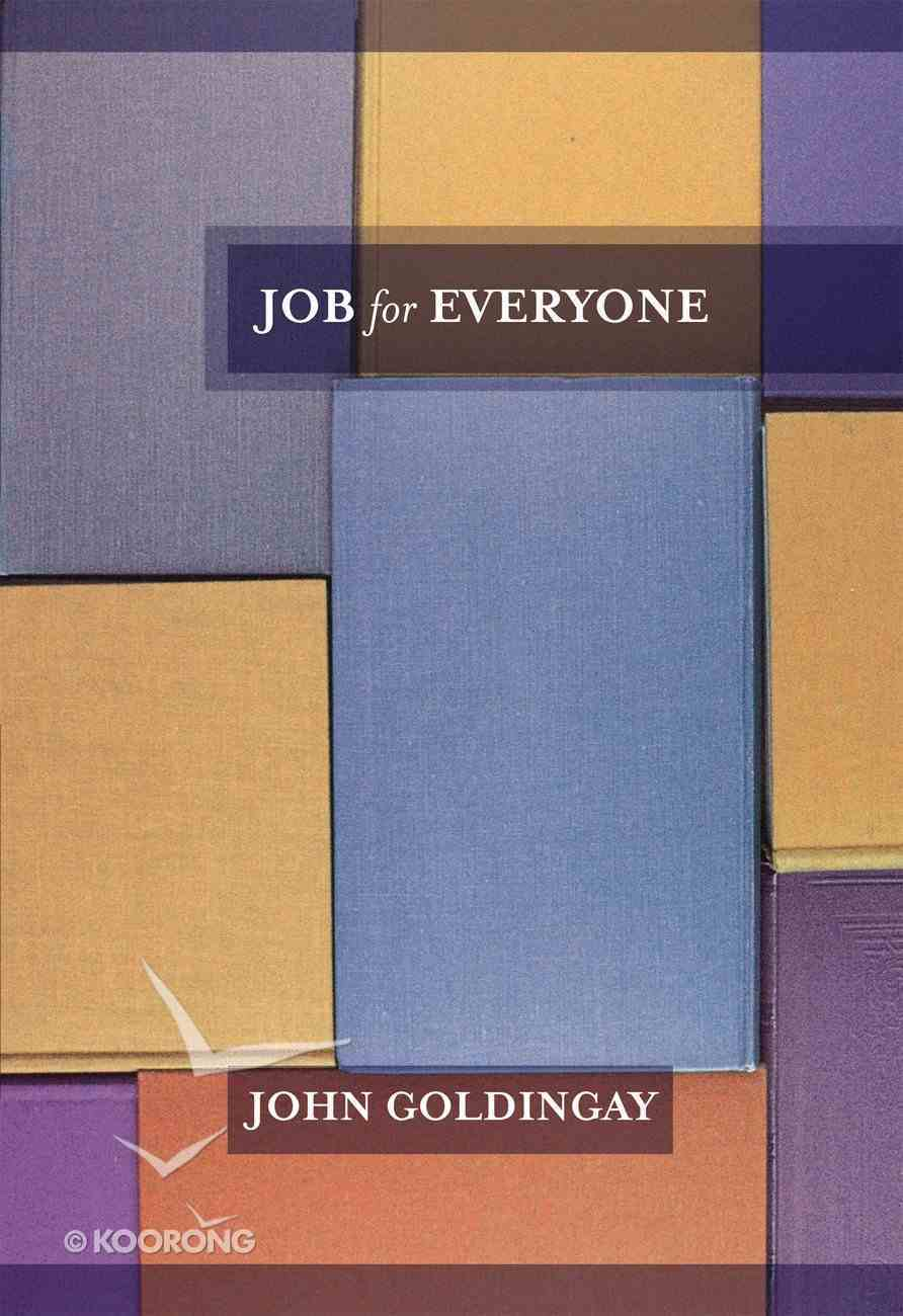 Job For Everyone (Old Testament Guide For Everyone Series) Paperback
