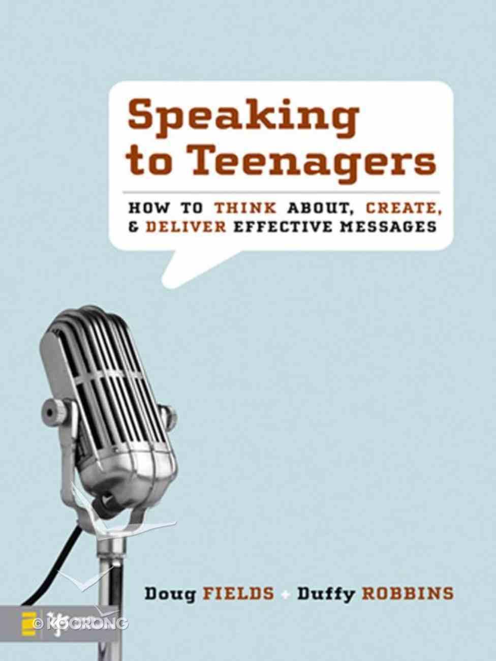 Speaking to Teenagers eBook