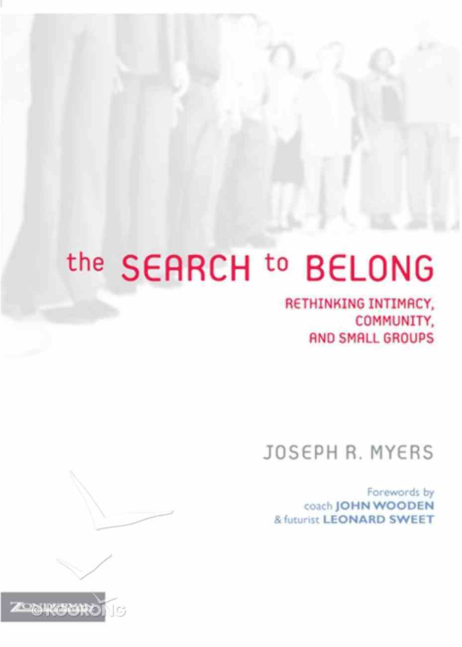 The Search to Belong eBook
