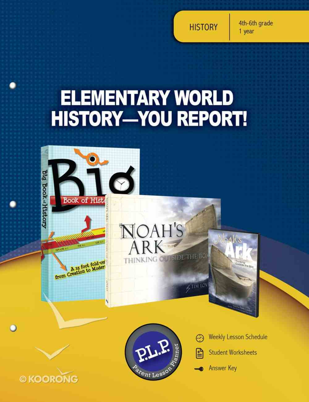 Elementary World History - You Report! Parent Lesson Planner Paperback