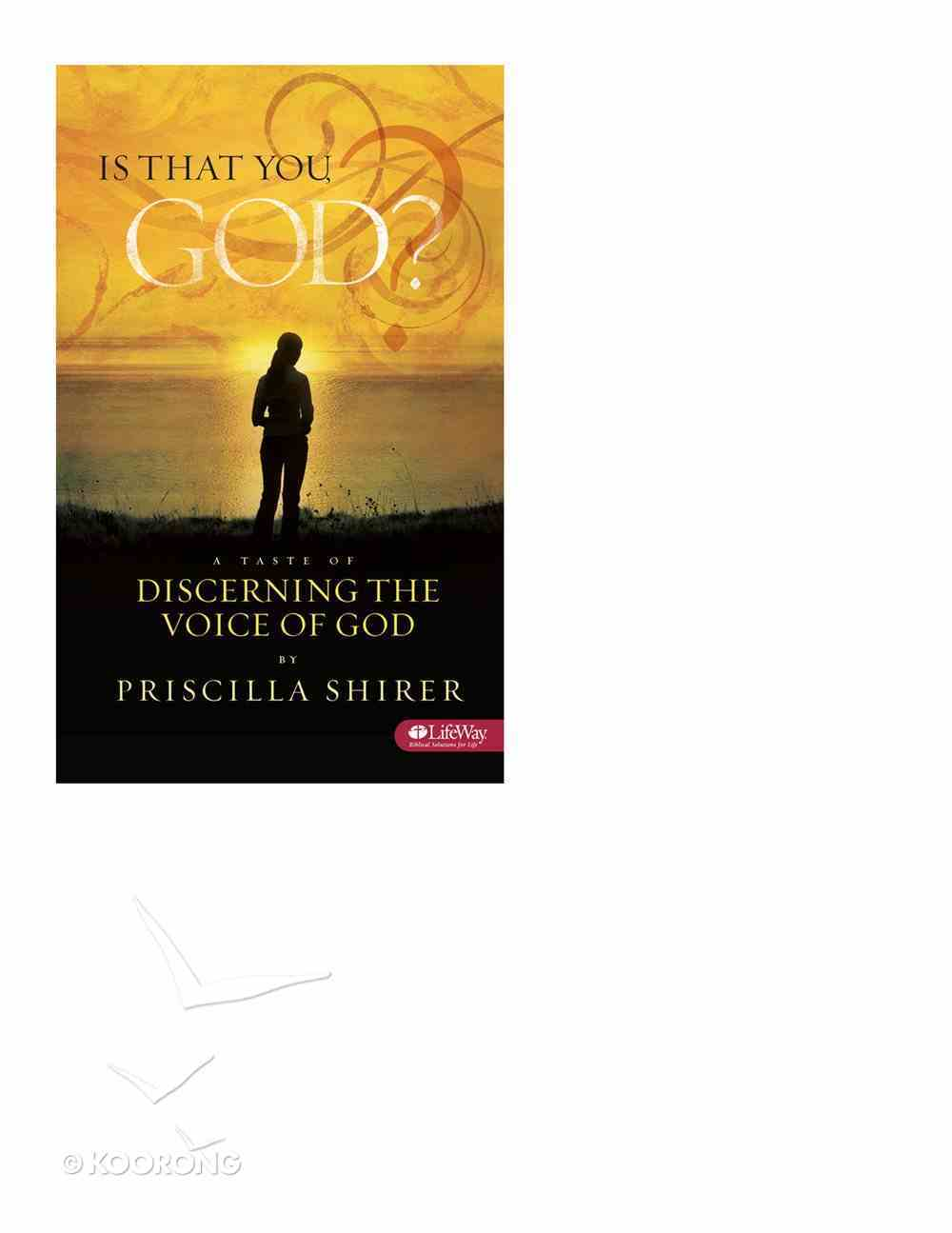 Is That You God? a Taste of Discerning the Voice of God - eBook