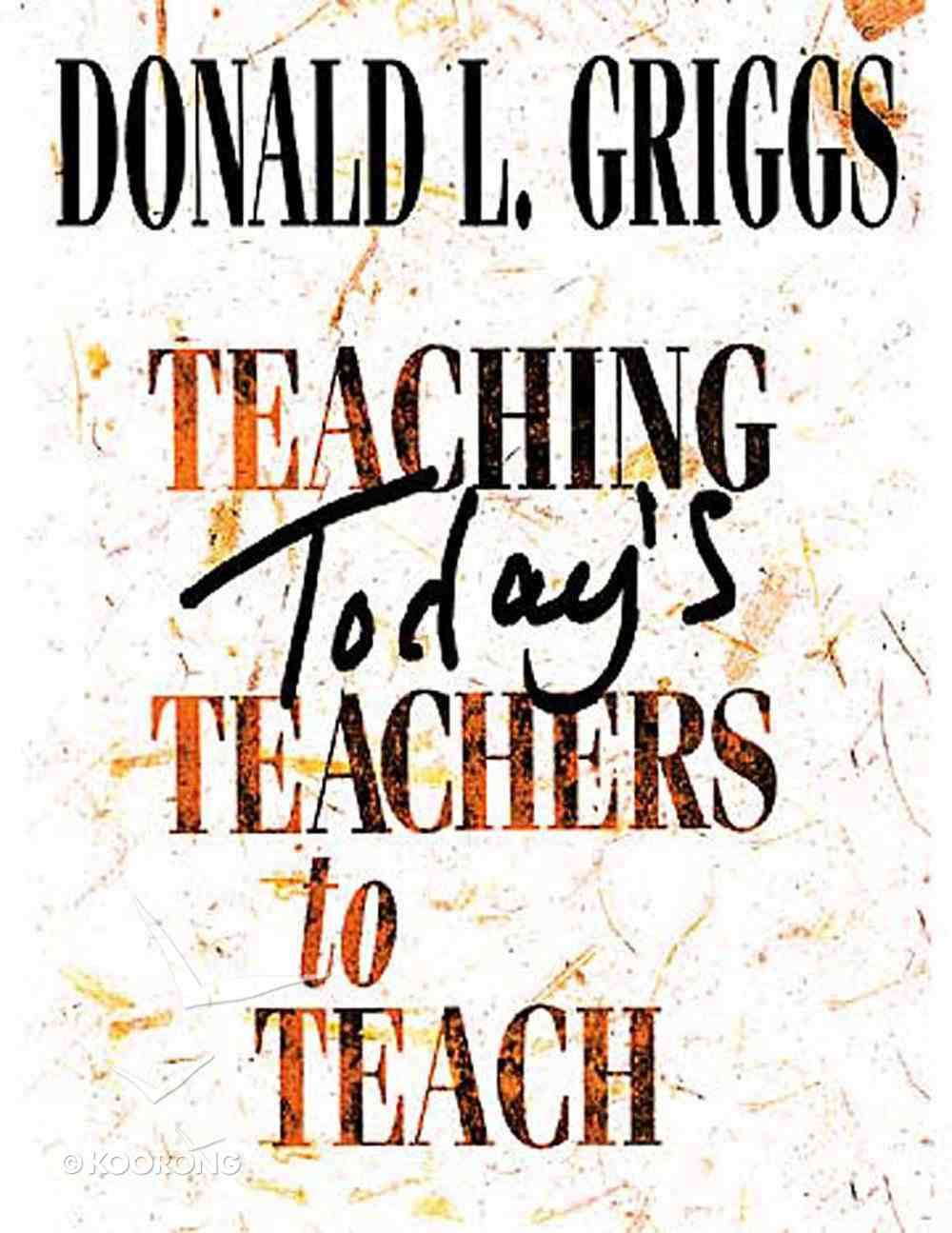 Teaching Today's Teachers to Teach eBook