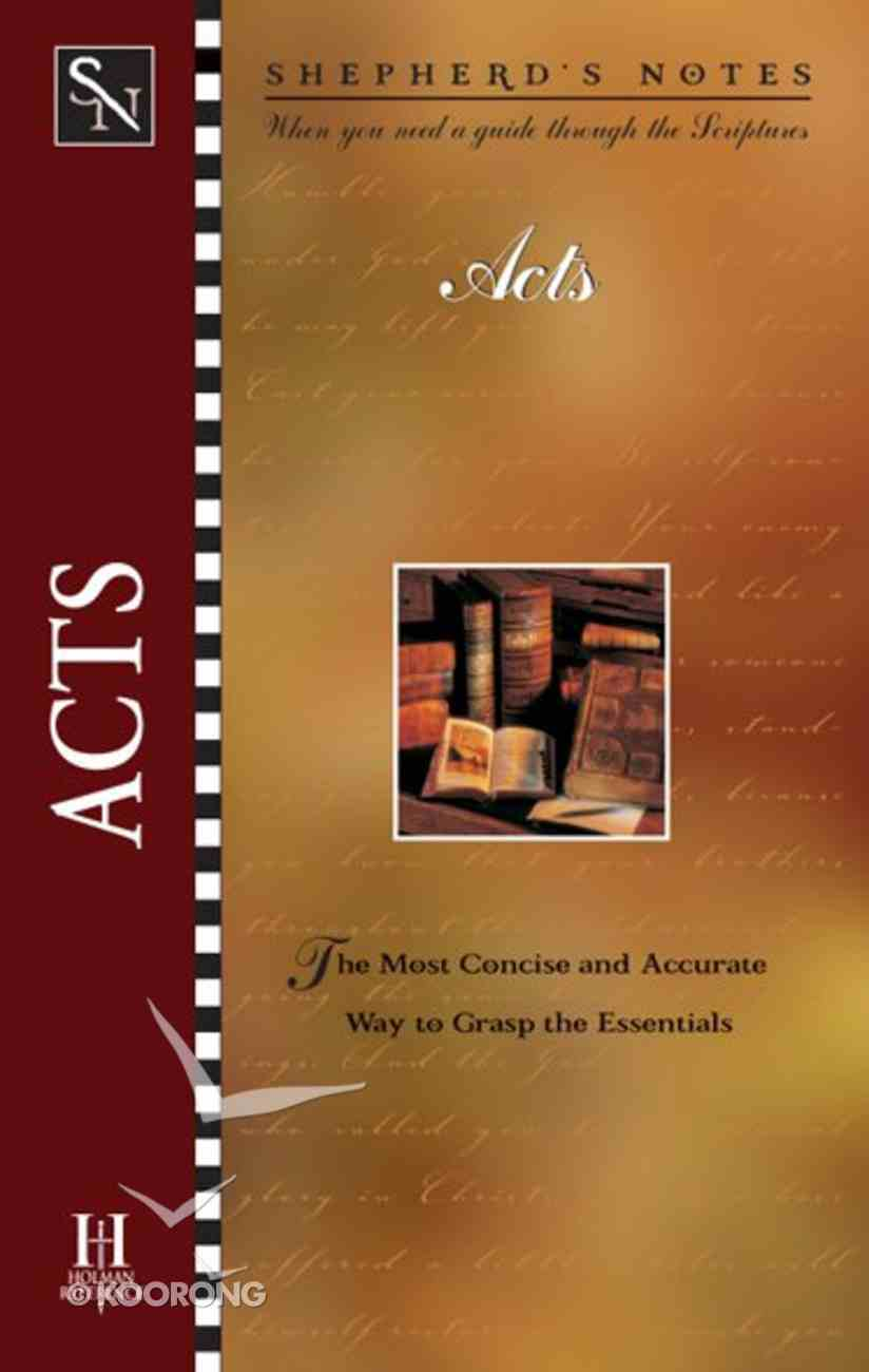 Acts (Shepherd's Notes Series) eBook