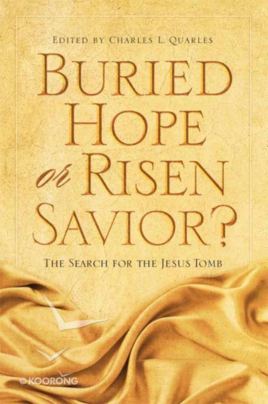 Buried Hope Or Risen Savior? eBook
