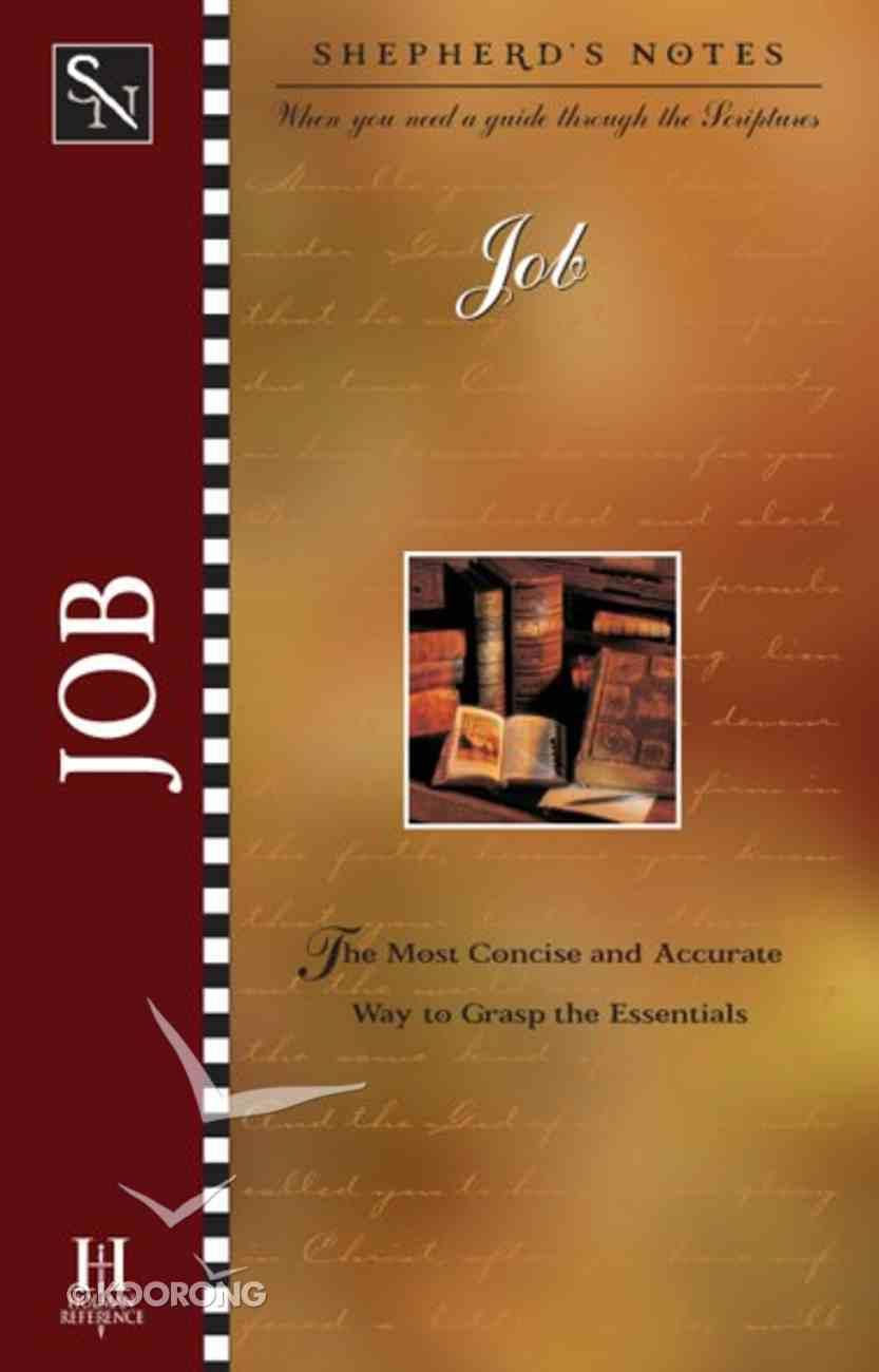 Job (Shepherd's Notes Series) eBook