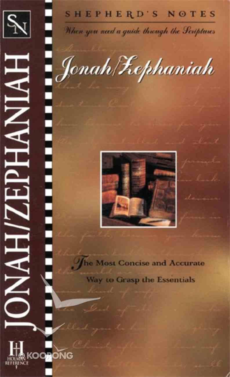 Jonah-Zephaniah (Shepherd's Notes Series) eBook