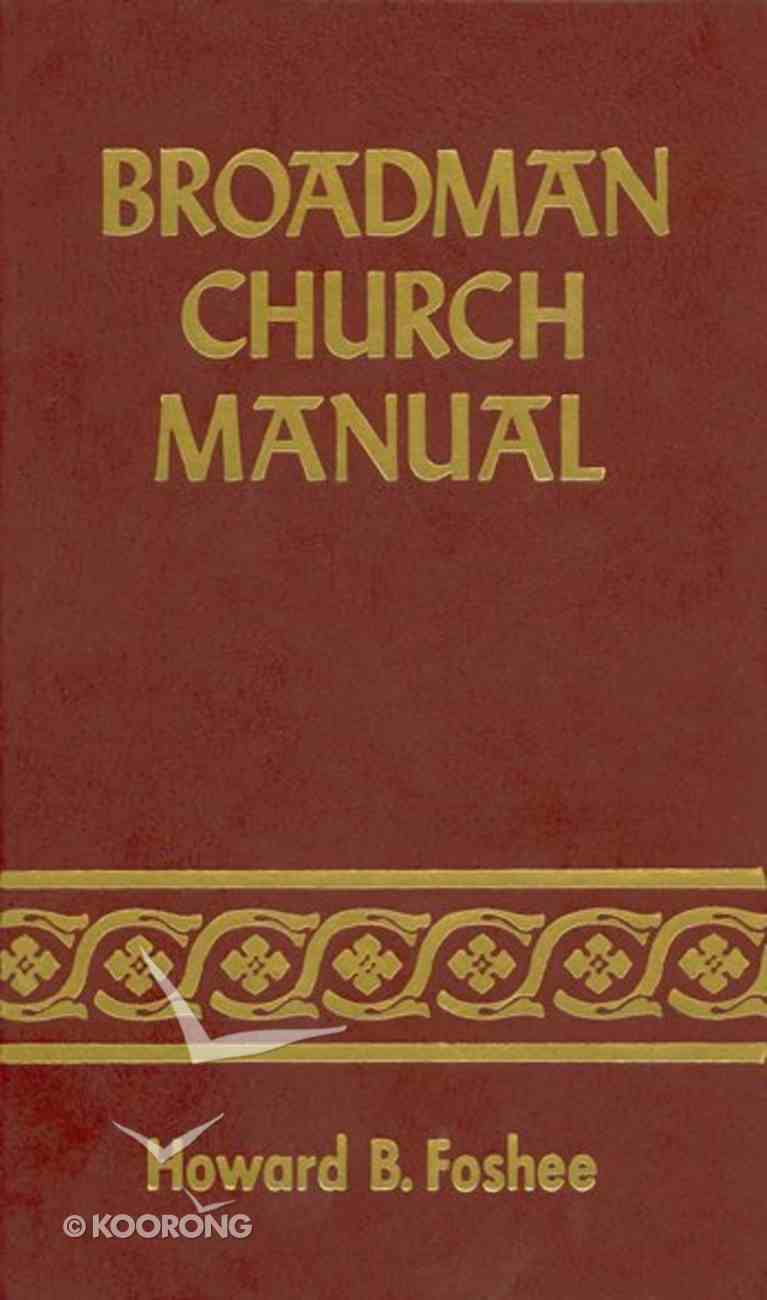 Broadman Church Manual eBook