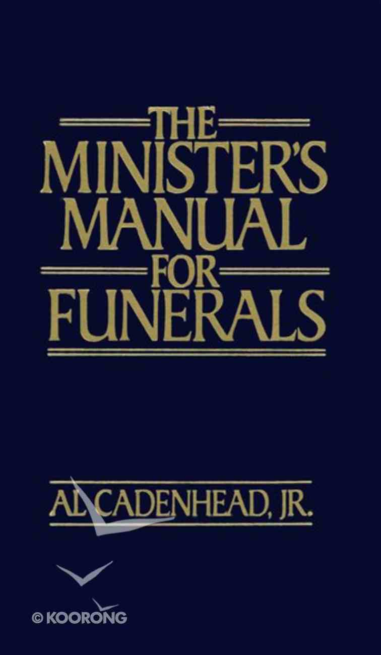 The Minister's Manual For Funerals eBook