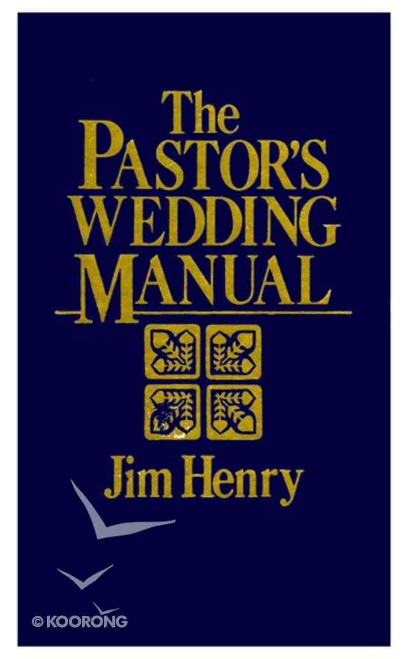 The Pastor's Wedding Manual eBook