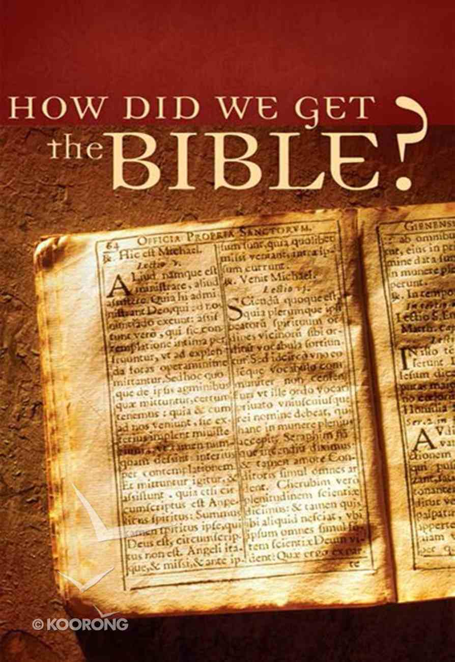 Value Books: How Did We Get the Bible? eBook