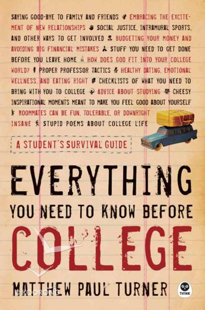 Everyhting You Need to Know Before College eBook