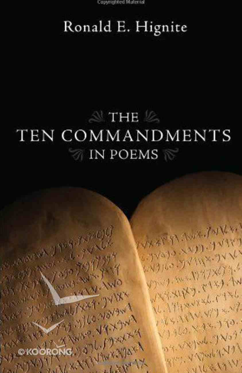 The Ten Commandments in Poems Paperback