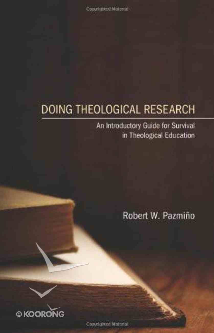 Doing Theological Research eBook
