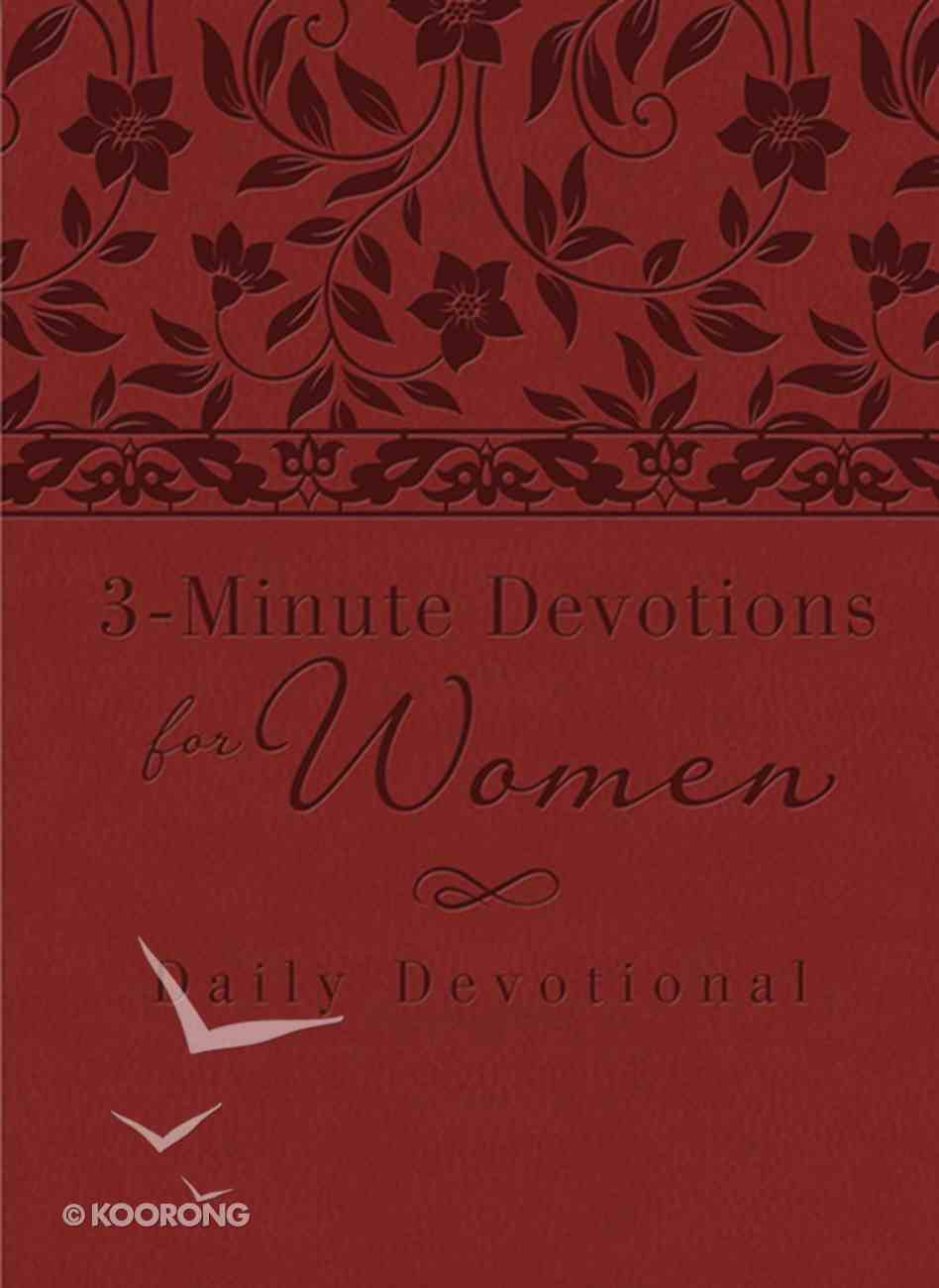 3-Minute Devotions For Women: Daily Devotional (Burgundy) eBook