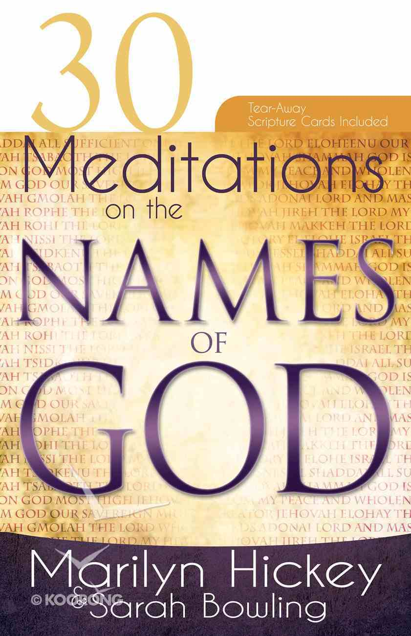 30 Meditations on the Names of God Paperback