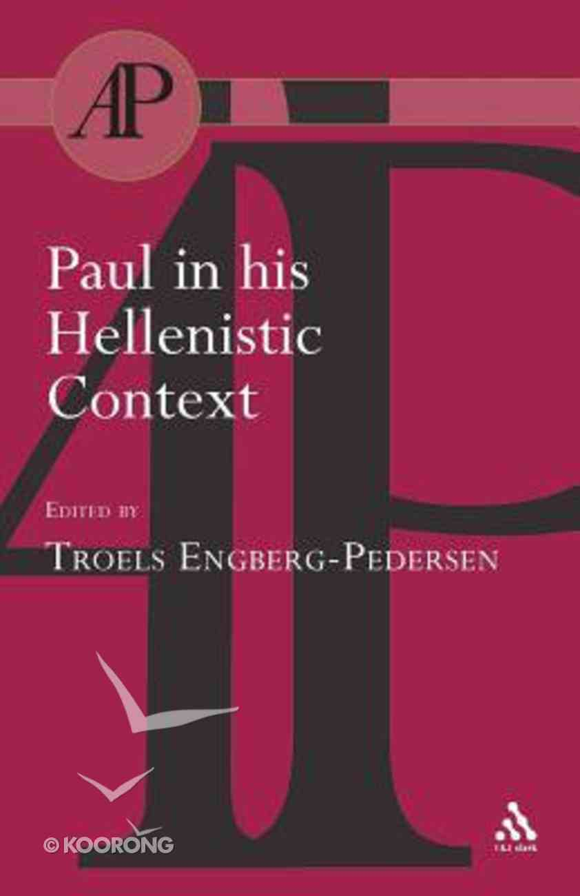 Paul in His Hellenistic Context Paperback