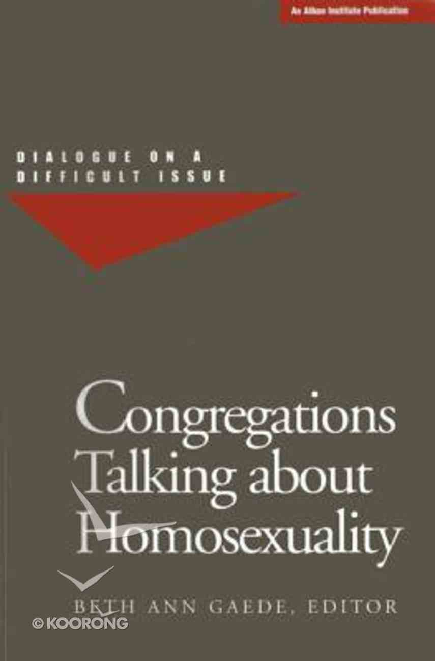 Congregations Talking About Homosexuality Paperback